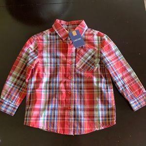 NWT Long sleeve plaid button down shirt